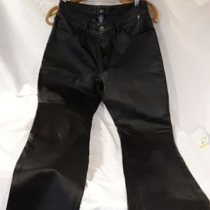 New Gap black leather lined pants size 8